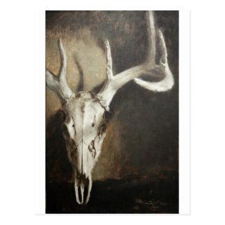 Cráneo de los ciervos tarjeta postal