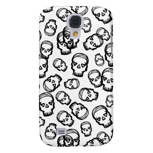 Cráneo de los corazones - B&W Funda Para Galaxy S4