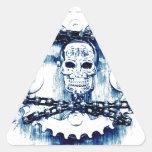 Cráneo de los engranajes de cadenas del Grunge, Calcomanía Trianguloada