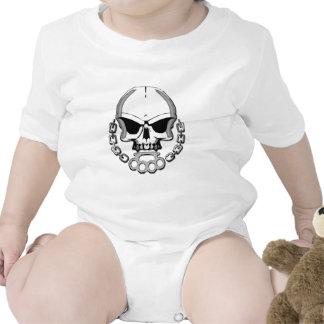 Cráneo de los nudillos de cobre amarillo trajes de bebé