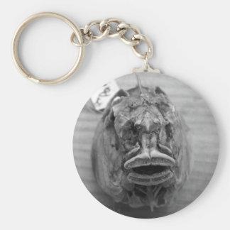 Cráneo de los pescados de Parore Llavero