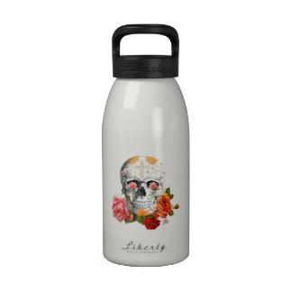Cráneo de los rosas botella de beber