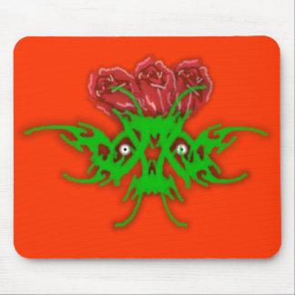 Cráneo de los rosas tapete de raton