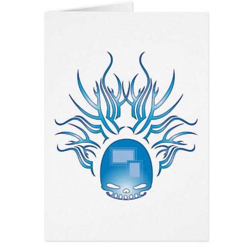 Cráneo de los sellos tarjetas