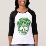 Cráneo de los tréboles del día del St Patricks Camisetas