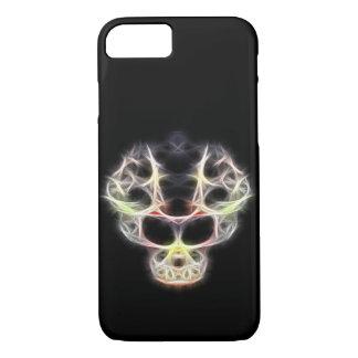 Cráneo de lujo del fractalius funda iPhone 7