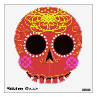 """""""cráneo de lujo rojo del azúcar """""""