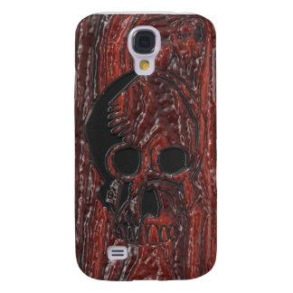 Cráneo de madera Head.png del lustre Funda Para Galaxy S4