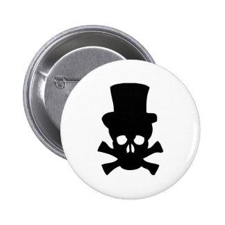 Cráneo de metales pesados con el sombrero de copa pin