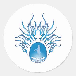 Cráneo de MMORPGs Etiqueta Redonda