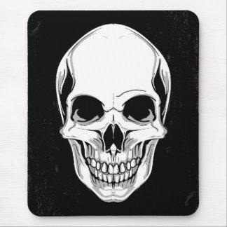 Cráneo de mueca asustadizo en fondo del Grunge Alfombrillas De Ratones