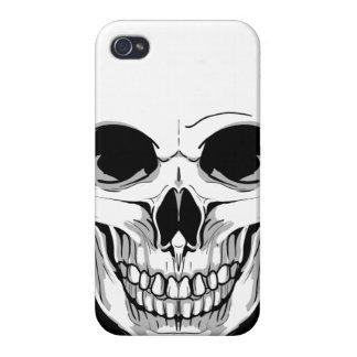 Cráneo de mueca asustadizo iPhone 4 funda