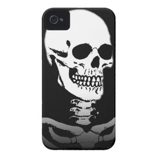 Cráneo de mueca siniestro iPhone 4 carcasas