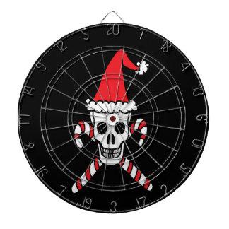 Cráneo de Navidad con el fondo negro Tablero De Dardos