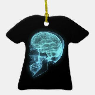 Cráneo de neón azul de la radiografía de la vista  ornamentos para reyes magos