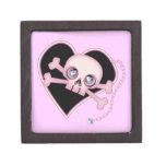 Cráneo de neón rosado caja de recuerdo de calidad