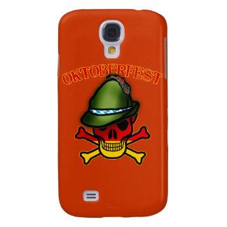 Cráneo de Oktoberfest y diseño de la bandera pirat Funda Para Galaxy S4