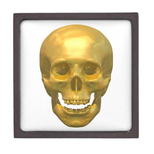 Cráneo de oro cajas de regalo de calidad