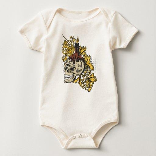 Cráneo de oro de la hoja trajes de bebé