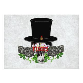 """Cráneo de Piscis Invitación 5"""" X 7"""""""