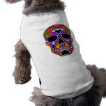 Cráneo de Psychedellic Ropa Para Mascota