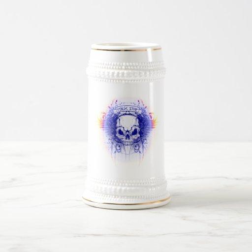 Cráneo de Rockstar - Stein Jarra De Cerveza