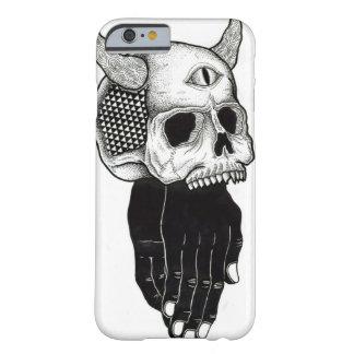 cráneo de rogación de las manos funda de iPhone 6 barely there