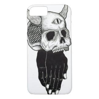 cráneo de rogación de las manos funda iPhone 7