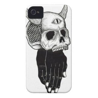 cráneo de rogación de las manos iPhone 4 cárcasa