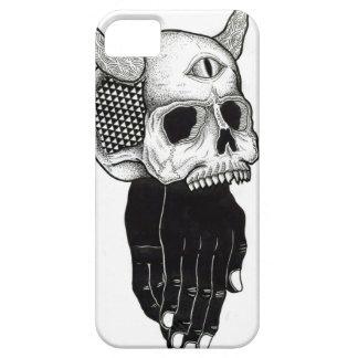 cráneo de rogación de las manos iPhone 5 carcasa