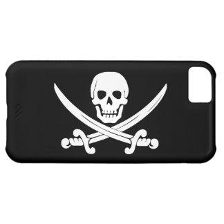 Cráneo de Rogelio de la bandera de pirata y regalo Funda Para iPhone 5C