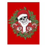 Cráneo de Santa con la guirnalda Postal