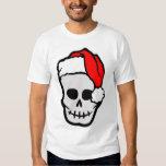 Cráneo de Santa del navidad Playeras