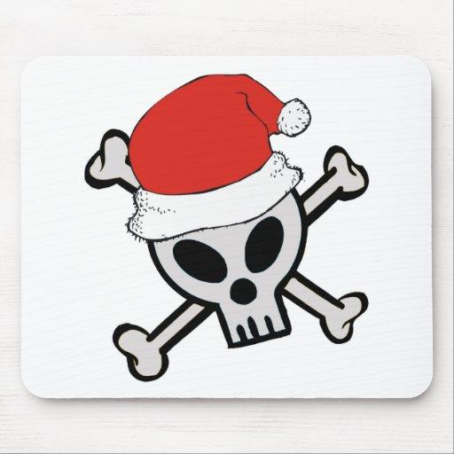 Cráneo de Santa del navidad Tapete De Raton