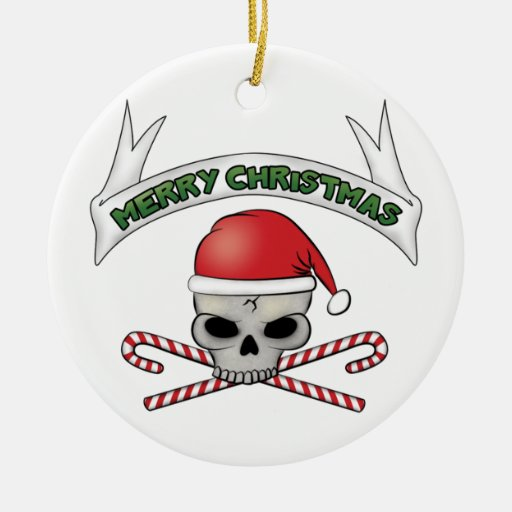 Cráneo de Santa y ornamento del navidad de la band Ornamento De Reyes Magos