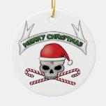 Cráneo de Santa y ornamento del navidad de la Ornamento De Reyes Magos
