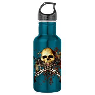 Cráneo de Sixgun Botella De Agua De Acero Inoxidable