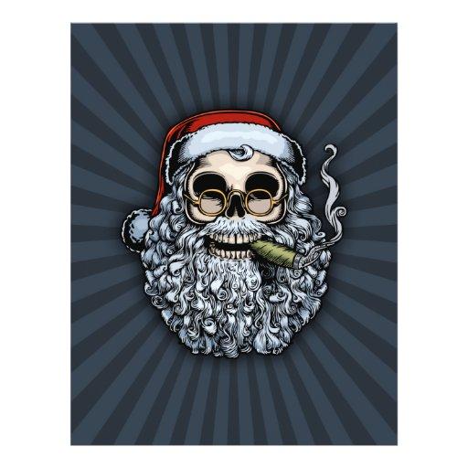 """Cráneo de Smokin Santa Folleto 8.5"""" X 11"""""""