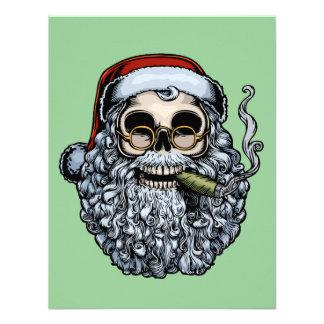 Cráneo de Smokin Santa Invitacion Personal