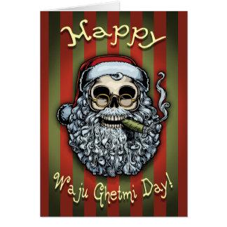 Cráneo de Smokin Santa Felicitación