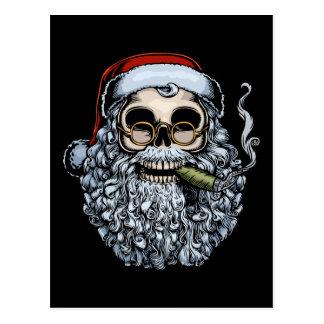 Cráneo de Smokin Santa Postal