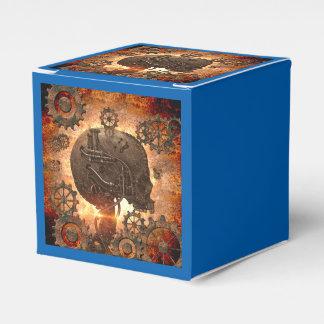 Cráneo de Steampunk con los engranajes hechos del Caja Para Regalos