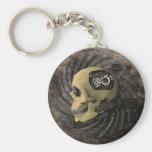 Cráneo de Steampunk Llaveros Personalizados
