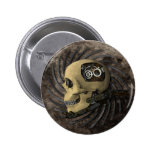 Cráneo de Steampunk Pin Redondo 5 Cm