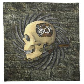 Cráneo de Steampunk Servilletas De Papel
