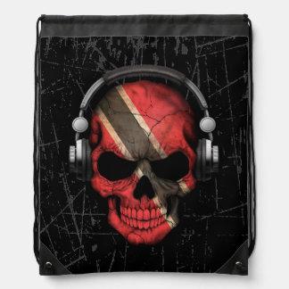 Cráneo de Trinidad y Tobago rasguñado de DJ con Mochilas