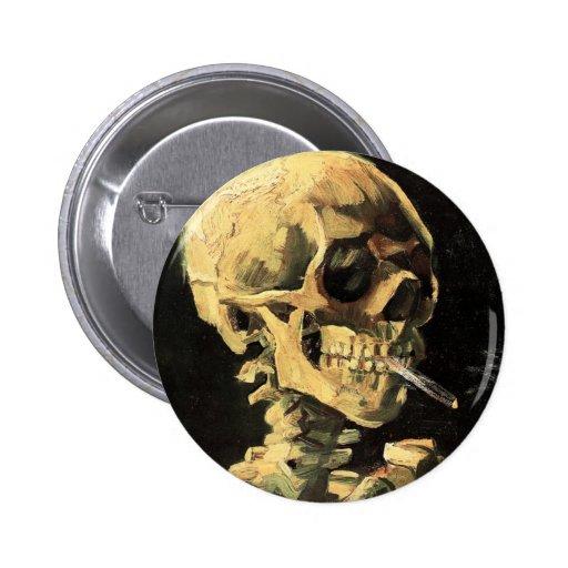 Cráneo de Van Gogh con el botón ardiente del cigar Pin