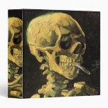 Cráneo de Van Gogh con el cigarrillo ardiente, art