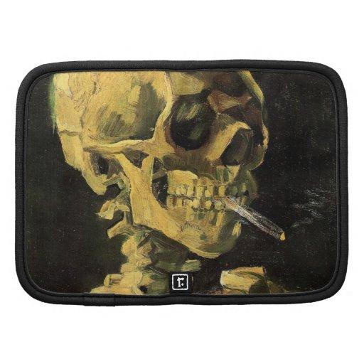 Cráneo de Van Gogh con el cigarrillo ardiente, art Planificadores