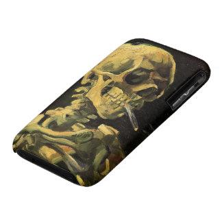 Cráneo de Van Gogh con el cigarrillo ardiente, art Case-Mate iPhone 3 Protector